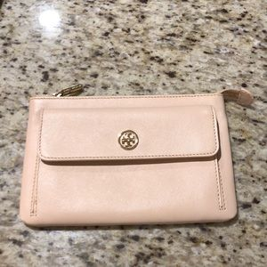 Tory Burch blush clutch